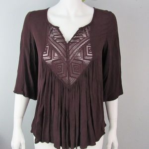 Mossimo Supply Co Tunic Top Size S/P Burgundy